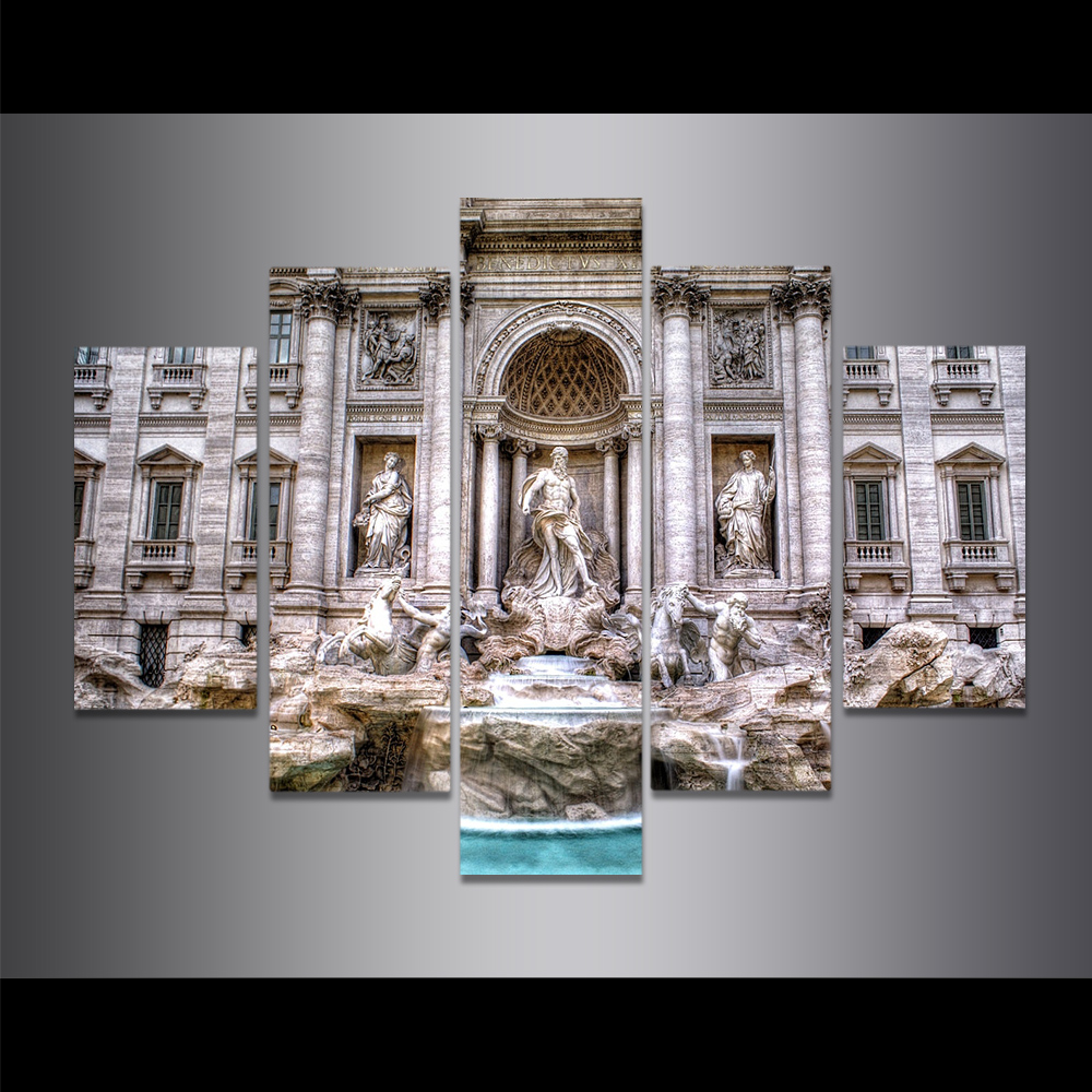 Unframed Canvas Painting Rome Trevi Fountain Sculpture Photo Picture Prints Wall Picture For Living Room Wall Art Decoration