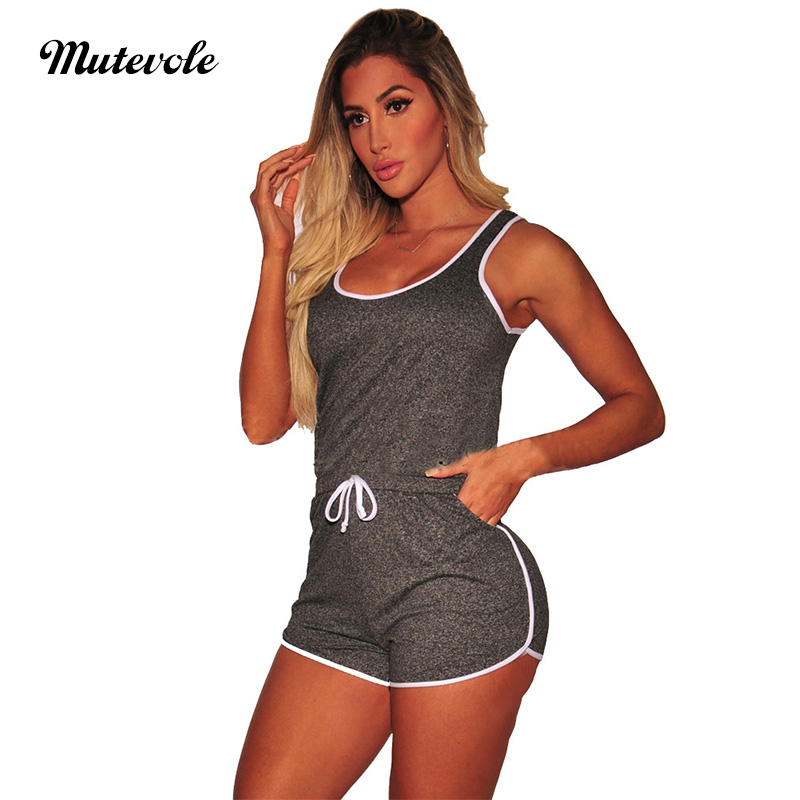 Mutevole PLUS SIZE Ladies Two Piece Tracksuit Set Women Strap Tank Crop Top and Drawstring Shorts 2 Piece Set Fitness Outfits