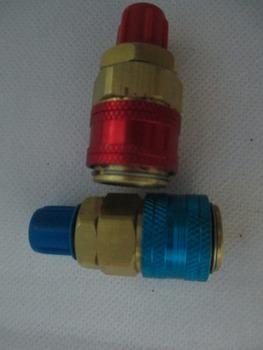 Fixmee Hot ! r134a auto szybkozłącze adaptery basowe niski boczny kolektor ac r134a system szybkie złącza łączniki adaptery tanie i dobre opinie Inne