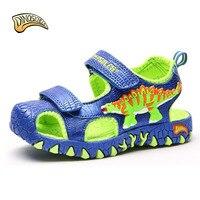 2019 Boys Sandals Children Beach Sandal Toe Closed Sandals Kids Boys Sliders Dinosaur Summer Shoes Size 27 34