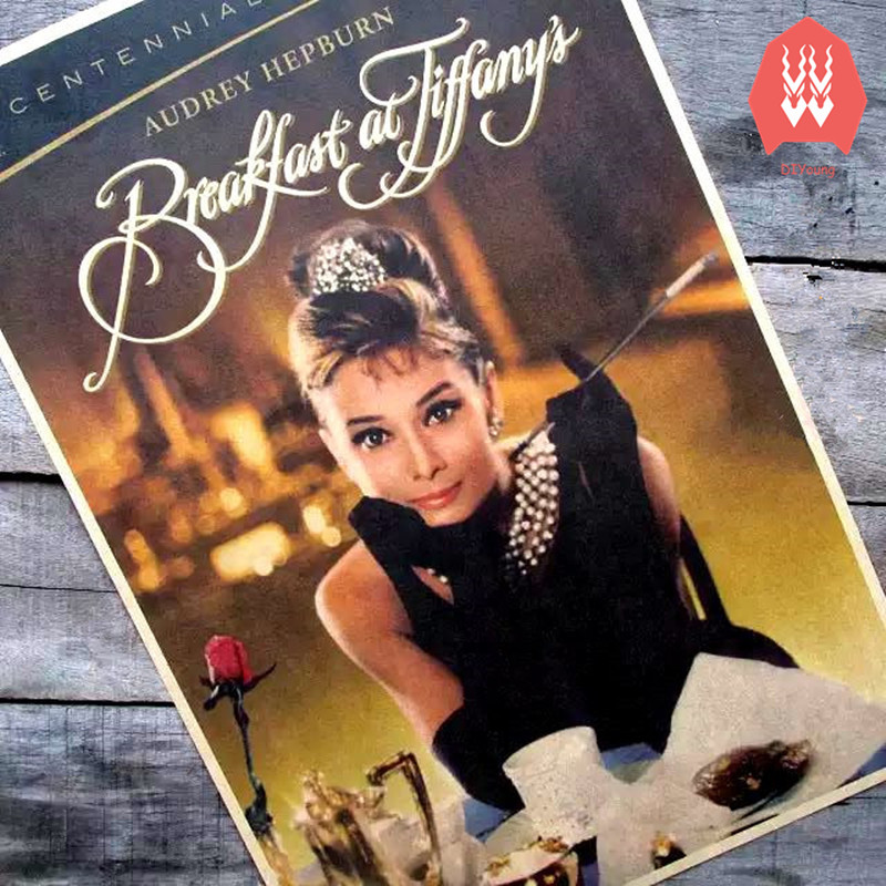 Vintage Retro Poster Breakfast At Tiffany's Movie Poster