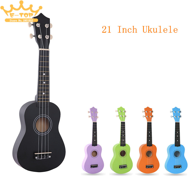 Ukelele Lovers Must-have 21 Inch Basswood Pure Color Professional Ukelele 4 Strings Pure Tone Musical Instrument