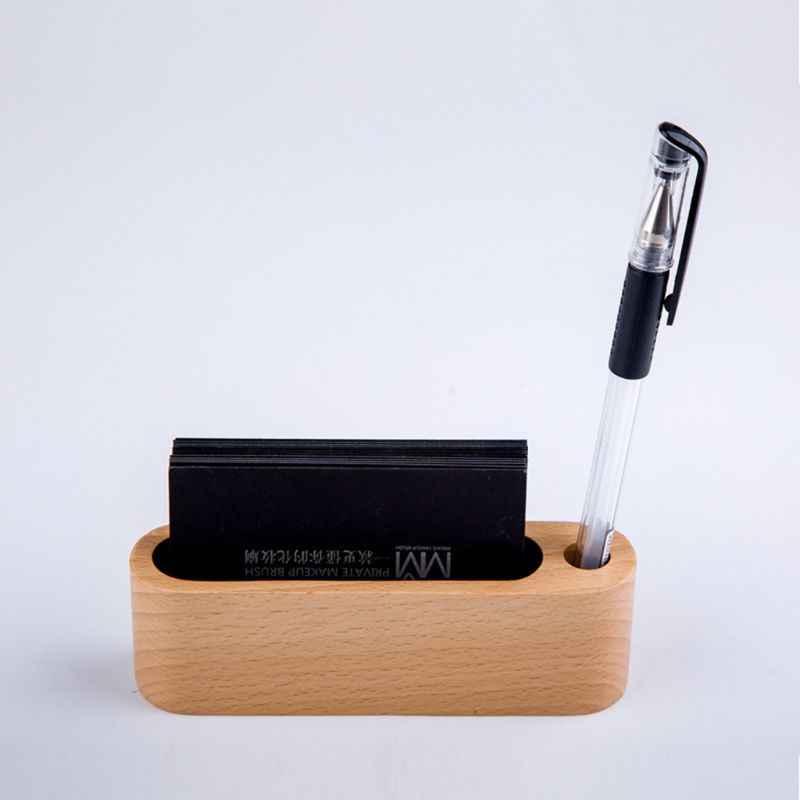 Визитная карточка из черного ореха, бука, дерева, Офисная карточка, деревянная визитная карточка, органайзер, Коробка Для Хранения ручек