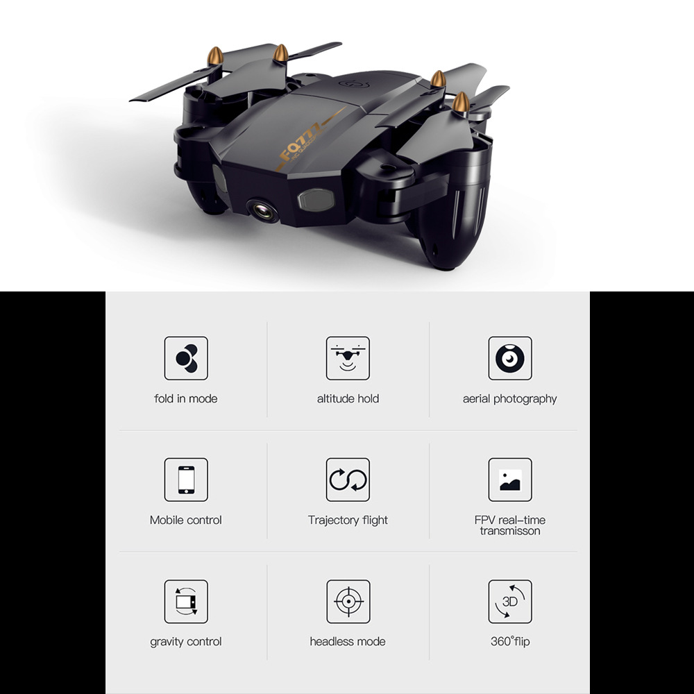 Image 2 - Folding drone Mini UAV WIFI aerial photography Fixed high Remote control Aircraft toys-in RC Helicopters from Toys & Hobbies