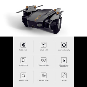 Image 2 - Folding drone Mini UAV WIFI aerial photography Fixed high Remote control Aircraft toys