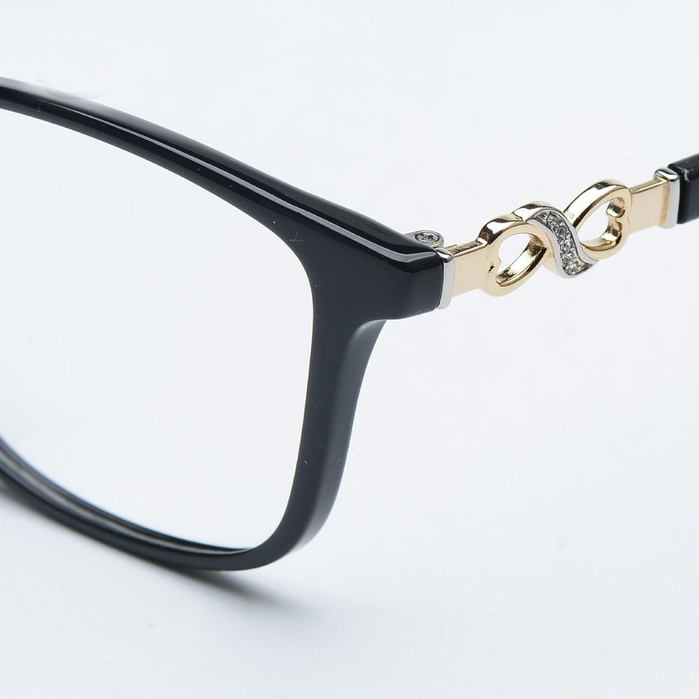 Asetaatti TR90 naisten naisten silmälasit, koko kehys kristalli, - Vaatetustarvikkeet - Valokuva 6