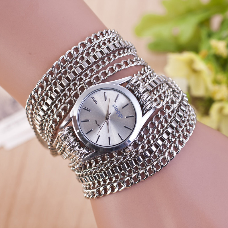 Bracelet Watches Ceasuri Alloy-Chain Horloges Feminino Gold Dames Fashion Women Ladies