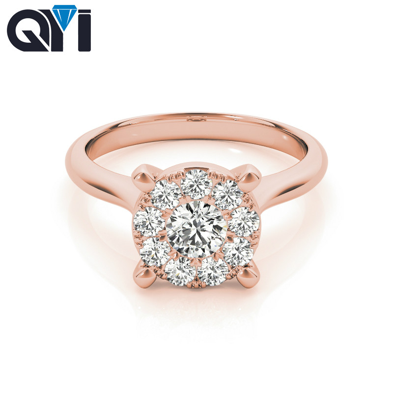 QYI Silver Rings For Women Classic Wedding Accessories Ring Sets 925 Sterling Round Cut Bridesmaid GiftQYI Silver Rings For Women Classic Wedding Accessories Ring Sets 925 Sterling Round Cut Bridesmaid Gift