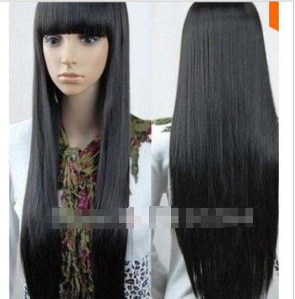 Suyushun3447919 New Imitate Human Bangs New Charming Long Black