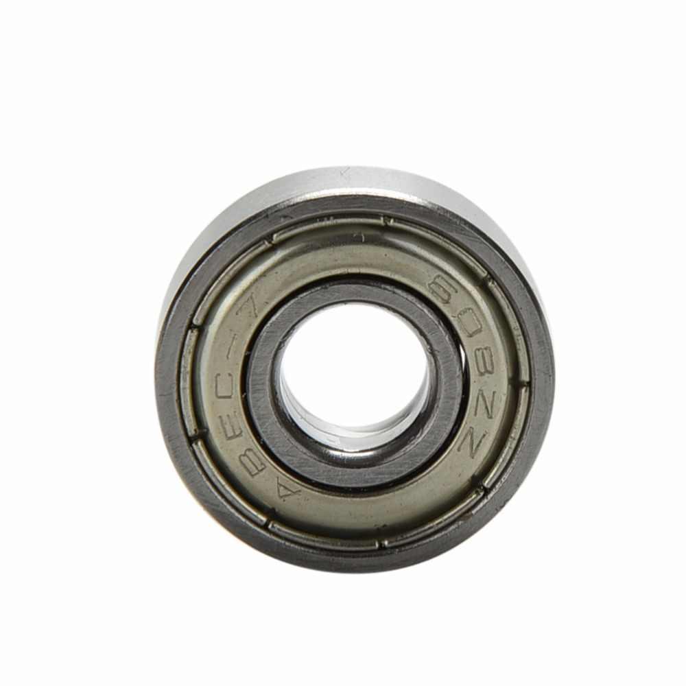 10 adet paslanmaz çelik kaykay rulmanlar makaralı Scooter rulmanlar paten tekerlekleri gümüş ABEC 7 608ZZ kaykay rulmanlar
