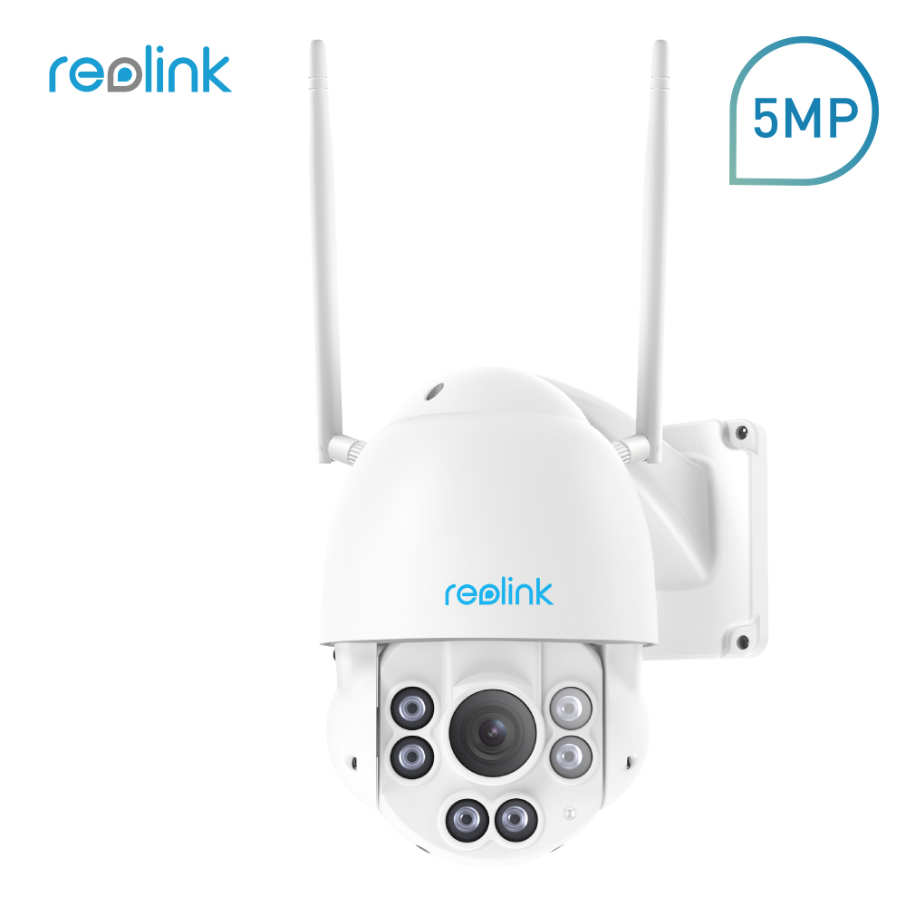 Reolink Security Camera 5MP 2.4G/5G WiFi Pan Tilt 4x Optical Zoom Built-in 32GB SD Card IP PTZ Cam RLC-423WS