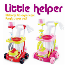 Children Pretend Play Toy Cleaner Kids Housekeeping Cleaning Washing Machine Mini Clean Up for Gifts