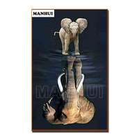 3D DIY Diamond Embroidery 5D Diamond Painting Diamonds Mosaic Animal Elephant Rhinestone Cross Stitch Needlework Decor