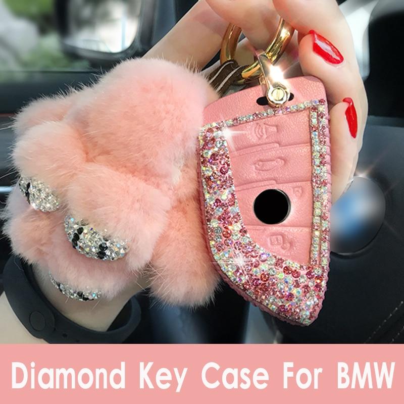 luxury diamond crystal car key case for bmw x1 x3 x4 x5 x6 116i 118i 320i