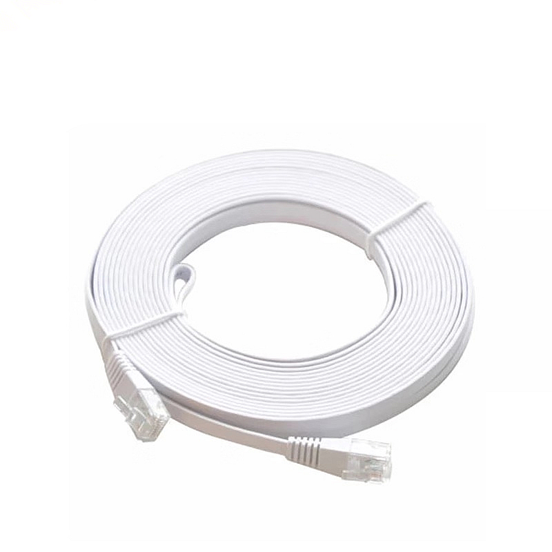 CAT5e Flat Ethernet Cable RJ45 Network Patch Cord For Computer Router Laptop LAN Lead With Connector Plug Crystal Head