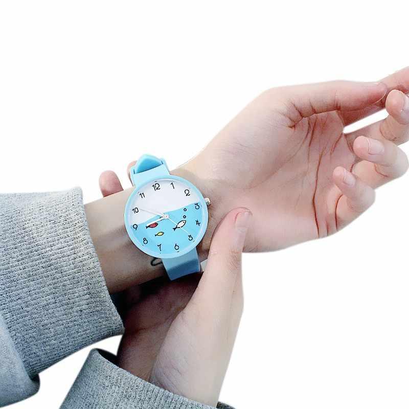 באיכות גבוהה צבעים בוהקים ילדים שעון בנות שעון אופנה ילדי שעוני יד Cartoon ילדים קוורץ שעון
