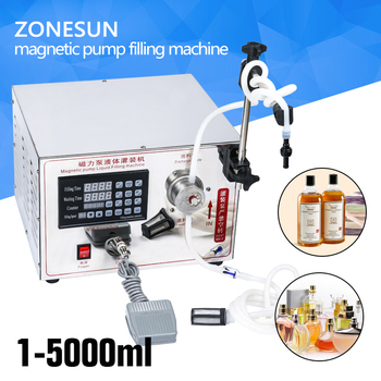 ZONESUN 2ml to unlimited filling machine Magnetic Pump Micro-computer liquid filler accurate automatic small vial bottle filler applicatori di etichette manuali