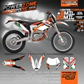Custom Team Graphics & Backgrounds Decals 3M Customized Sixdays Style For KTM FreeRide 250 350 2012 To 2015 Free Shipping