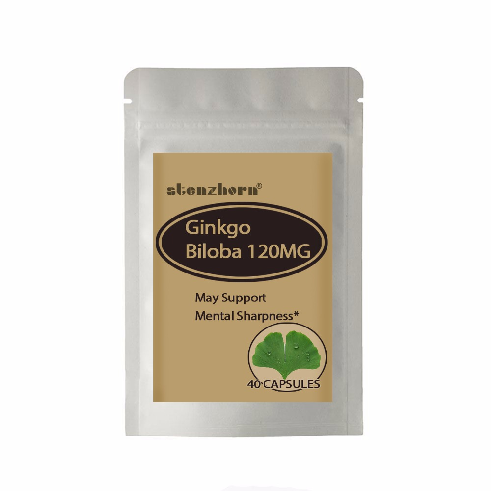 Ginkgo 40PCS premium quality formula to help support healthy blood circulation, cognitive function and memory.