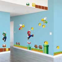 Vinyle amovible Sticker mural décalcomanie maison décors géant grand Super Mario Bros enfants amovible mur fenêtre autocollant décor à la maison décalcomanie