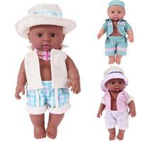 30cm Baby Simulation Doll Lifelike African Newborn Baby Doll Toy Kids Birthday Gift Appease Accompany Pretend