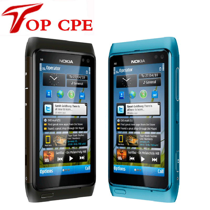 Original Refurbished Nokia N8 mobile phone 3G WIFI GPS 12MP Touchscreen 3 5 Unlocked Mobile Phone