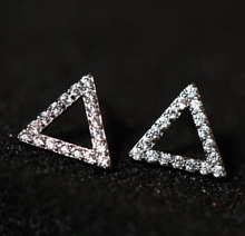 style jewellery 925 sterling silver stud earring triangle form jewellery wholesale classic girls earring for girl free delivery