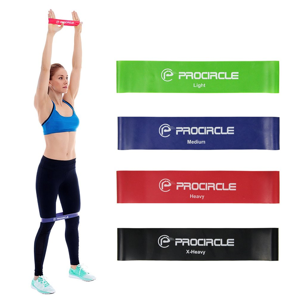 ProCircle Resistance Band Set 4/5 Levels Nature Latex Gym Strength Training Workout Rubber Bands Fitness Equipment Carry Bag resistance bands rubber band workout fitness gym equipment rubber loops latex yoga gym strength training athletic rubber bands