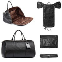 BOSTANTEN Genuine Leather Travel Bag Weekender Overnight Duffel Bag Gym Sports Luggage Tote Duffle Bags For Men & Women