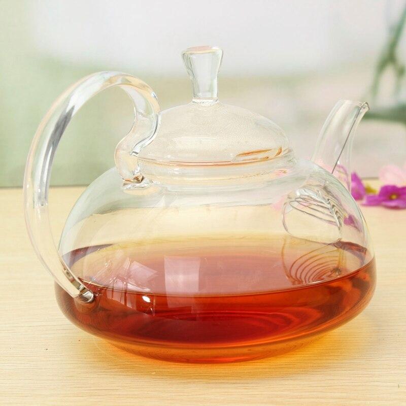 750ml Tea Kettle Heat Resistant Elegant Glass Teapot Infuser Flower Green Tea Pot With Stainless Steel