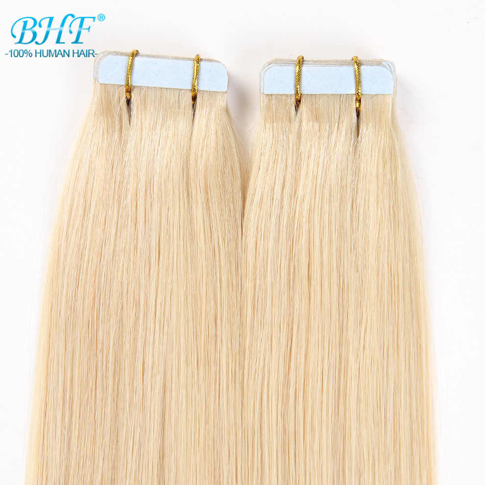 Bhf Tape In Human Hair Extensions Straight 613 # Blonde Tape In Extensions 20 Pcs Remy Tape In Hair Extensions