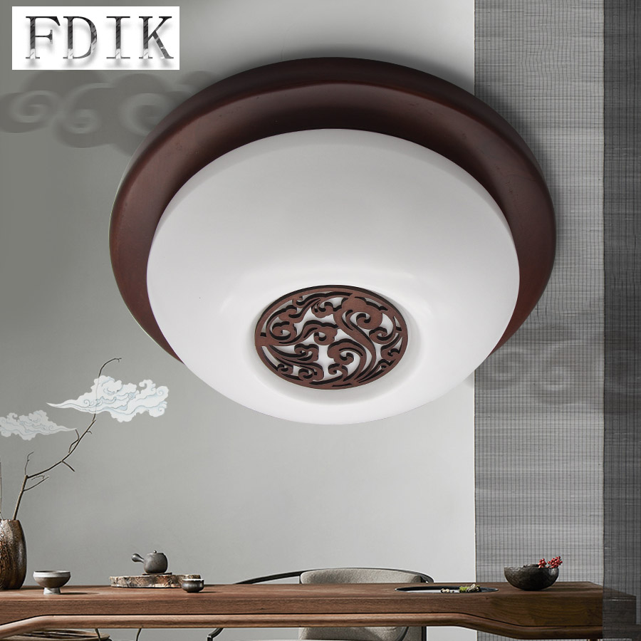 LED Ceiling lamp 15W 220V Chinese style Cloud Solid Wood LED circular ceiling lights living room bedroom Decorative Lighting chinese style wooden led circular ceiling lamps real wood art acrylic bedroom study decorated living room ceiling lights za zs45