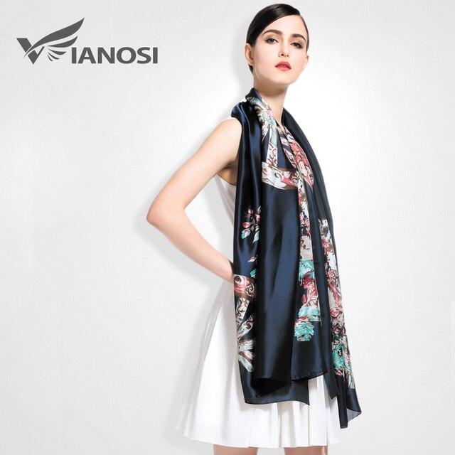[VIANOSI] 10 Styles High Quality Digital Printing Women Scarf Brand Shawls and Scarves Silk Scarf Foulard Femme Luxury