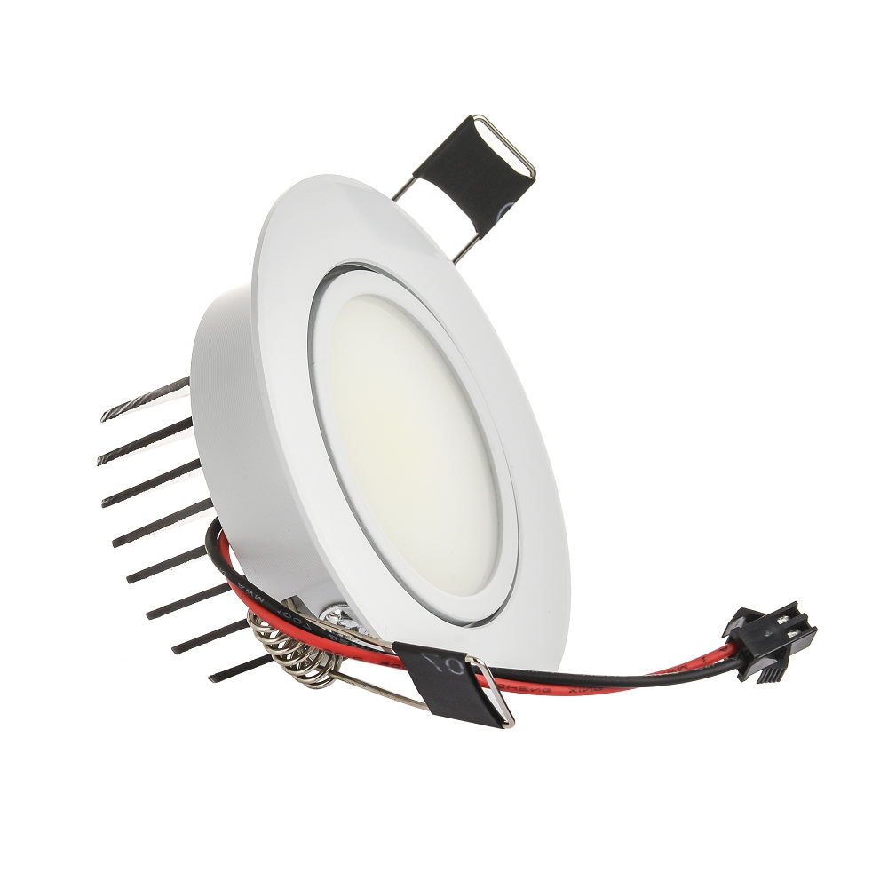Lámpara de punto LED de mazorca redonda de gran calidad 6 W ángulo ajustable empotrado de techo 110 V 230 V para iluminación de hogar/Oficina - 2