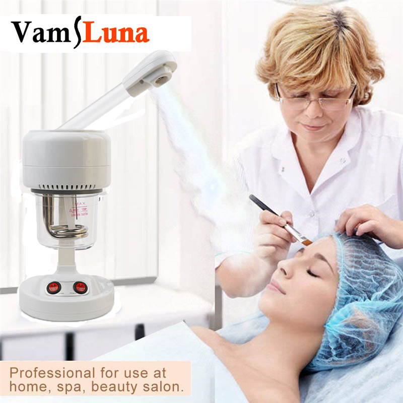 Vamsluna Nano Ionic Warm Mist Facial Steamer Sauna SPA Mist Moisturizing Sprayer For Pores Cleanse Face Humidifier
