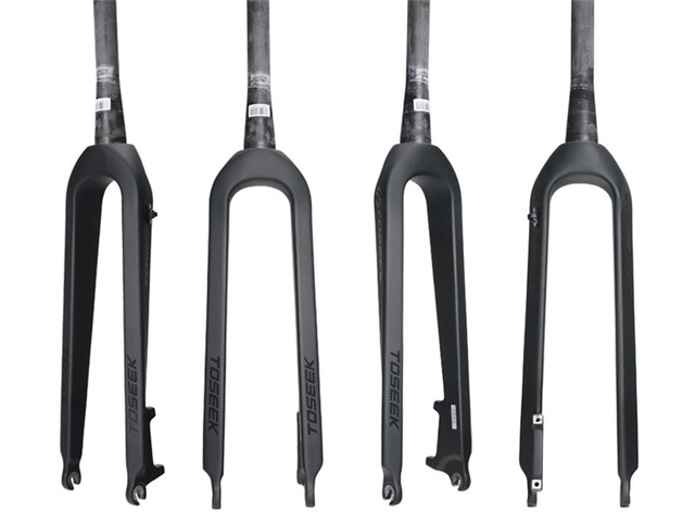 2018 NEW TOSEEK Full Carbon Mtb Fork 1 1 8 1 1 2 Cone Bicycle Fork
