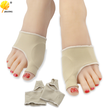 1pair Comfortable Soft Bunion Protector Toe Straightener Toe Separator Corrector Thumb Feet Care Adjuster hallux valgus