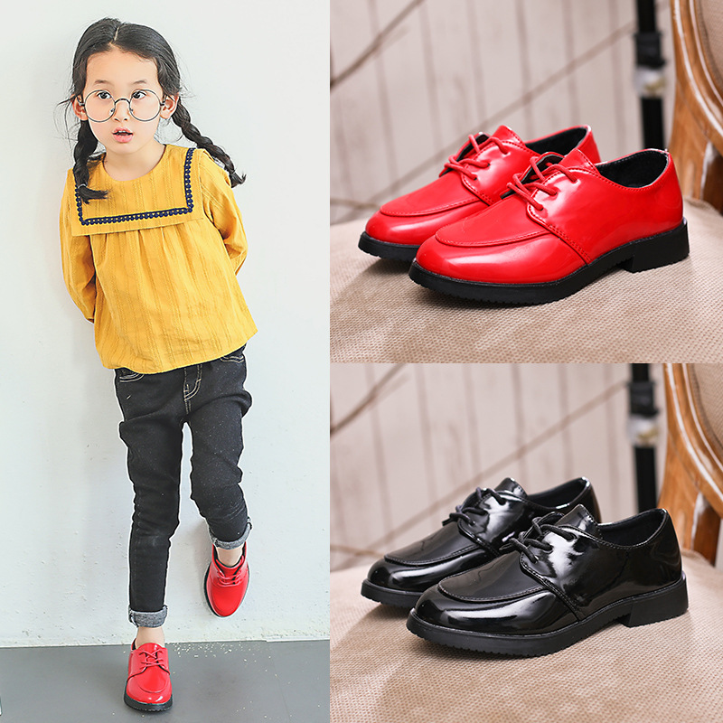 New Arrivals Children Kids Leather shoes Boys School Performance Girls Princess Low Heeled Shoes Kids Weeding Party Boots A31 10