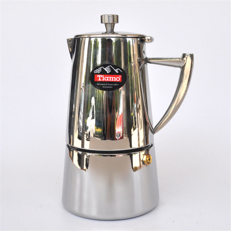 Stainless steel Moka pot aluminum material filter cartridge mocha coffee pots coffee percolators tool filter coffee