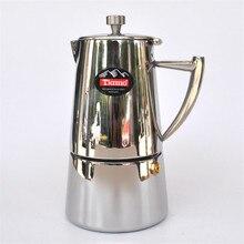 Edelstahl Moka topf/aluminium material filterpatrone mocha kaffee töpfe kaffee percolators werkzeug filter kaffeekanne 4 tassen