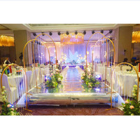 Wedding arches iron pipe n shaped flower stands wedding metal props background artificial flower decorations