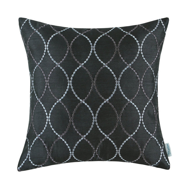 Faux Silk Cushion Cover Home Decorative Pillows Shell Two Tones Wave Magnificent Faux Silk Decorative Pillows