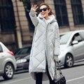 Invierno las mujeres chaqueta larga parka 2016 nuevo x-long gruesa caliente capa de las mujeres de gran tamaño suelta abajo de algodón de invierno outwear DX584