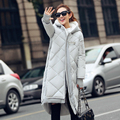 winter women long parka jacket 2016 new x-long thick warm women coat big size loose down cotton coat winter outwear DX584