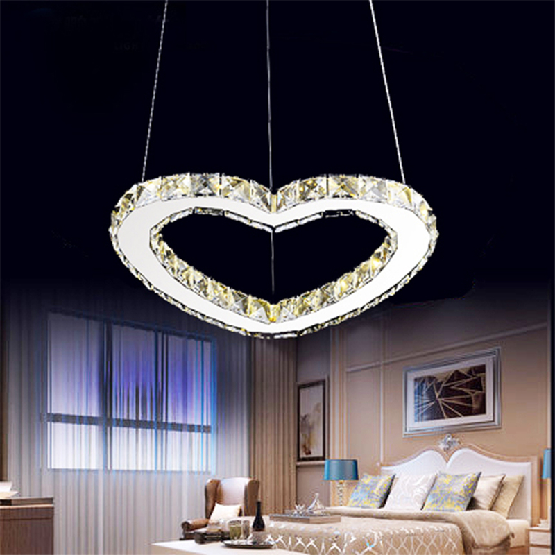 New LED stainless steel crystal pendant lights living room restaurant romantic heart shaped modern wedding room light SJ5144 cute bear shaped stainless steel pendant titanium