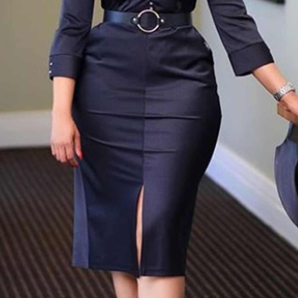 Платье до середины икры с v-образным вырезом и рукавом 3/4, пуловер, облегающее платье, черное элегантное офисное OL, для девушек, летнее, ампир, вечерние, Soliad, миди платье для женщин