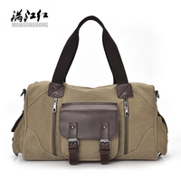 Brand Vintage Canvas Men Travel Bags Women Weekend Carry On Luggage Bags Sport Leisure Duffle Bag