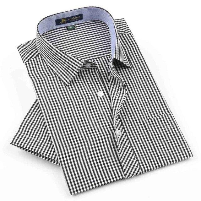 Free shipping 2016 NEW Brand Men's short sleeve shirts Casual Plaid shirt for man High quality Dress shirt spring summber shirts