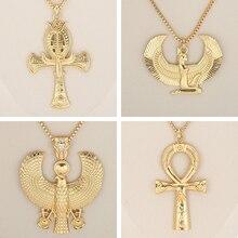 Африканский подарок, золотой цвет, египетская Королева Нефертити, ИГИЛ, Хорус, ожерелья с подвесками для женщин и мужчин, ювелирные изделия,, ювелирные изделия в стиле хип-хоп