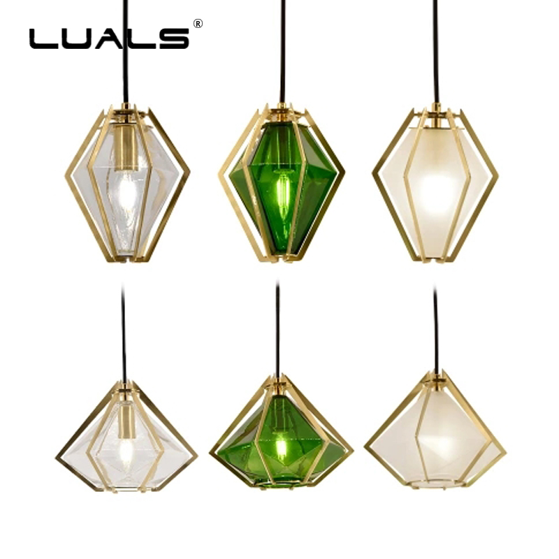 Nordic Pendant Lamp Luxurious Metal Suspension Luminaire Creative Hanging Light Glass Lampshade Pendant Lights Art LED Lighting fumat glass pendant lamp mediterranean style glass suspension light 3 lights art creative birds pendant lamp kitchen lighting